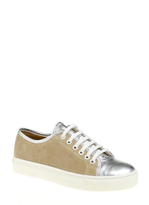 D by Divarese %100 Deri Casual Ayakkabı Gümüş